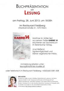 Lesung Feldberg, 28.06.2013