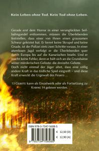 Cover 13 Gebote (Buchrückseite)