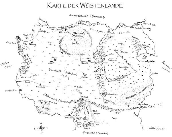 Karte der Wüstenlande